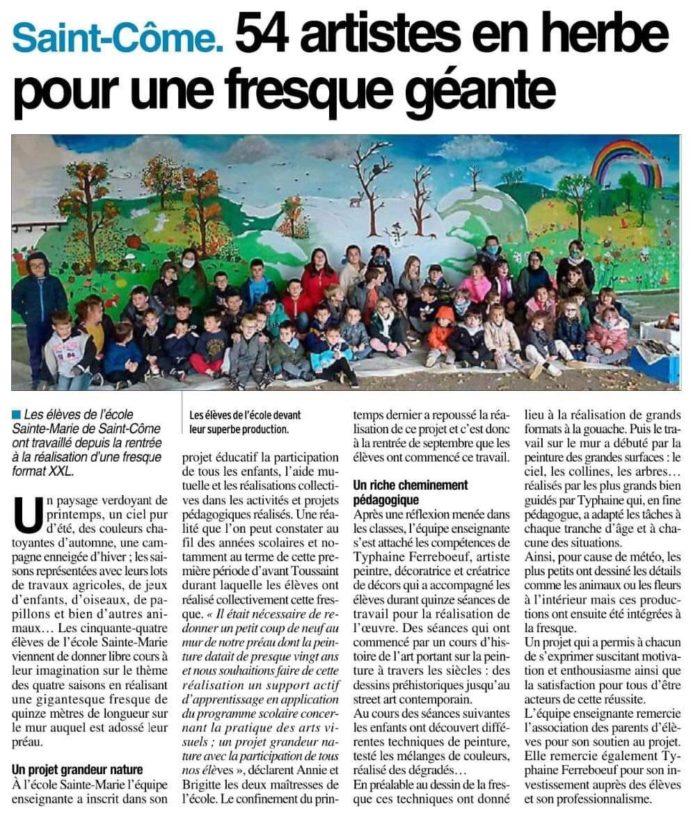 St Côme d'Olt - Ste Marie - Projet fresque 2020